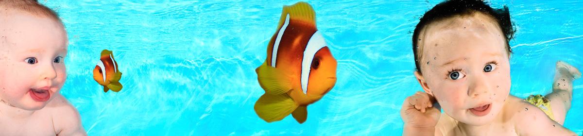 Baby Unterwasserfoto